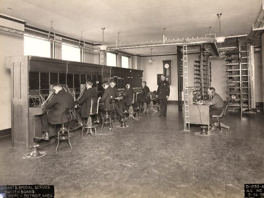 In 1926, switchboard operators at police headquarters