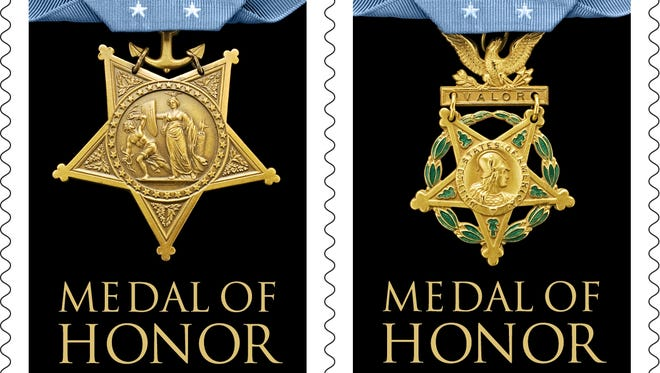 The Medal of Honor forever stamps show the Army and Navy awards, the only two kinds issued during WWII.