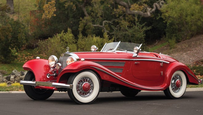 A rare 1937 Mercedes-Benz 540K Special Roadster fetched an Arizona record $9.9 million at auction Jan. 29, 2016, at  RM Sotheby's collector-car auction.