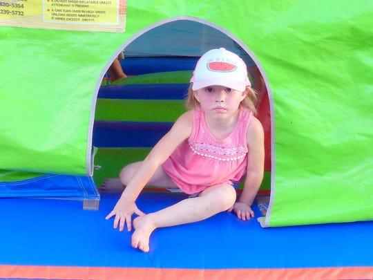 Leaving a bouncy house isn't fun.