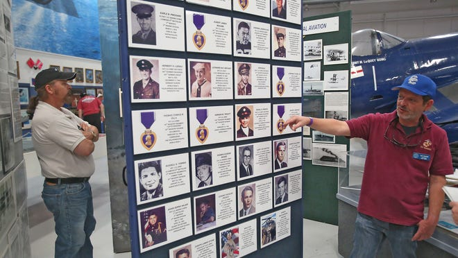 Local historian and Cathedral City High School history teacher Lee Wilson Jr. will unveil this memorial to the 27 Palm Springs men who have died in foreign wars to the public on Monday as part of the Palm Springs Air Museum's annual Memorial Day Flower Drop.