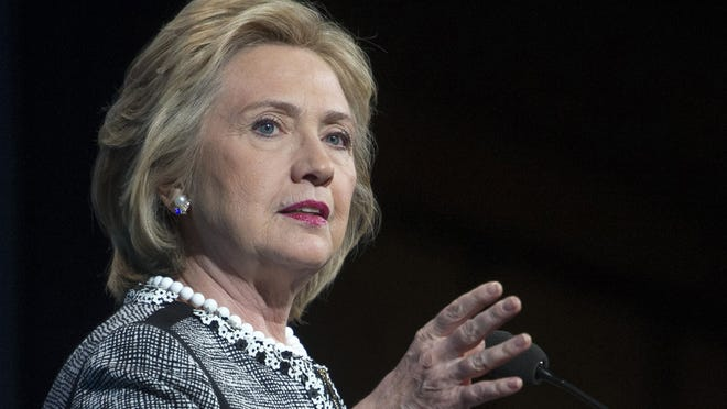 Former Secretary of State Hillary Rodham Clinton, speaking May 14, 2014, in Washington will be at Oakland University stumping for Michigan Democrats on Thursday, Oct. 16, 2014.