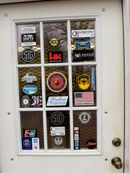 Entrance to The Gun Depot decorated with gun manufacture