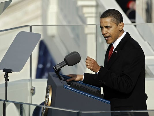 GTY BARACK OBAMA IS SWORN IN AS 44TH PRESIDENT OF THE UNITED STATES A POL USA DC