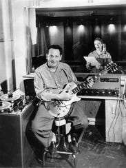 Les Paul and Mary Ford in Paul's Mahwah Home Studio.