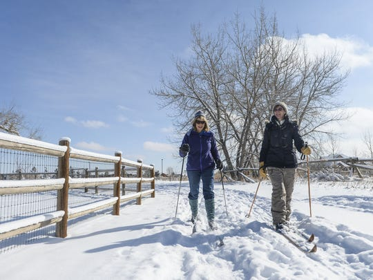Spring Canyon Park is one close area to cross-country ski when Fort Collins receives enough snow.
