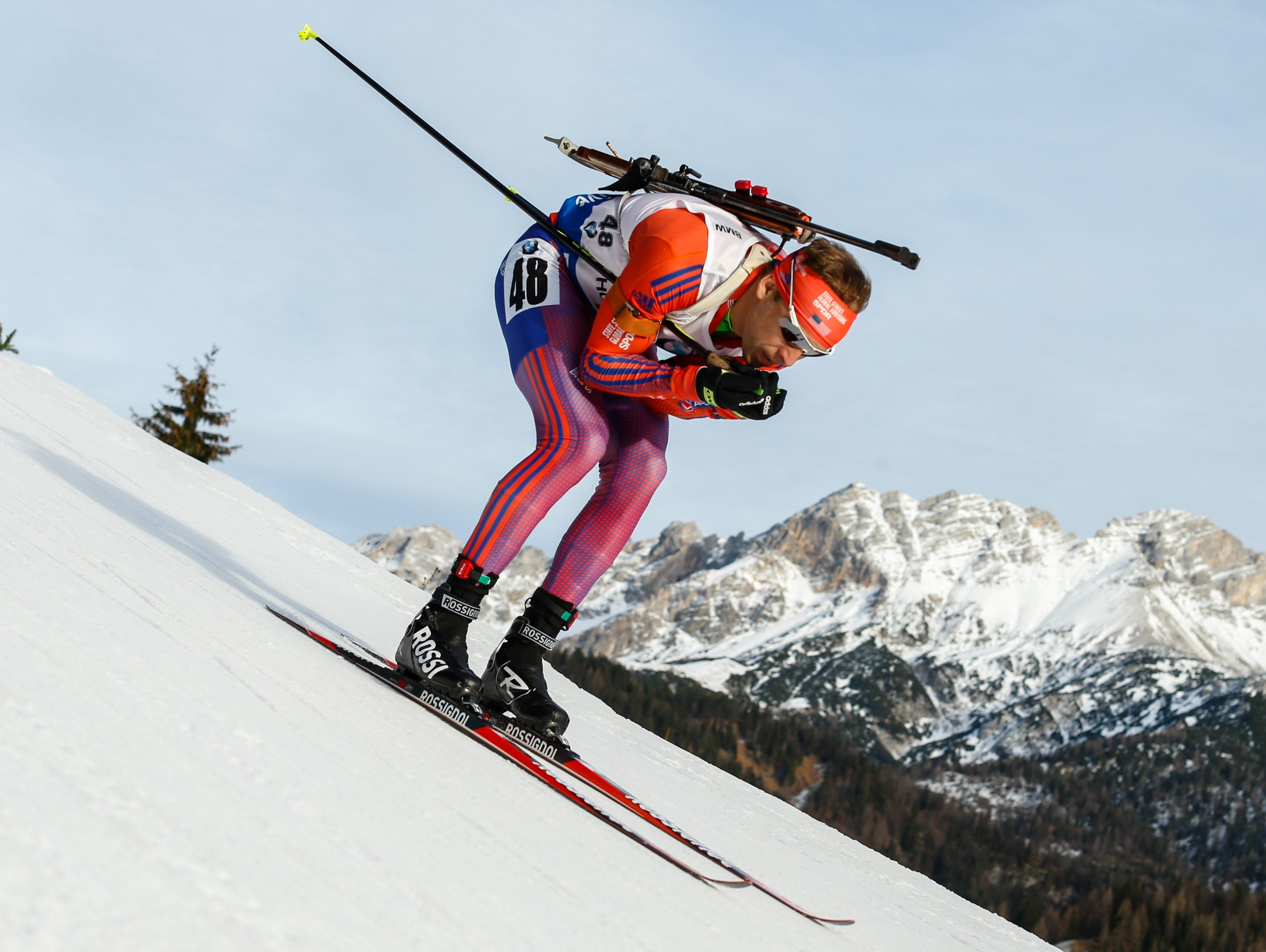 Lowell Bailey of the USA competes during the IBU Biathlon World Cup Men's and Women's Sprint on December 11, 2015 in Hochfilzen, Austria. Jordan Nagel was so influenced by him that she sent him an email to thank him for inspiring her.