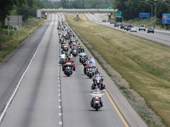 Thousands of bikers participate in the 2013 Operation