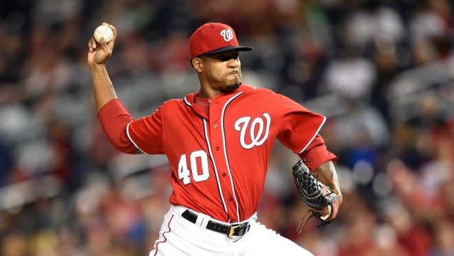 Pitcher Edwin Jacksonchas had an up-and-down season for the Nationals.