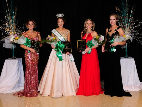 Ms. Houston County winners left to right: 3rd, Ashley