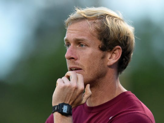 Bearden coach Ryan Radcliffe watches his players during