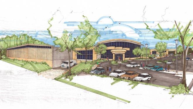 An artist's interpretation of proposed renovations to Marshfield Area YMCA.