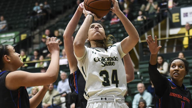 CSU's Alana Arias, shown in a game earlier this season, has been named the Mountain West's Player of the Week.