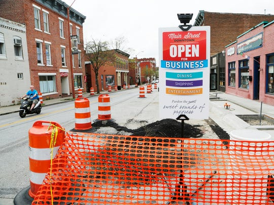 Orange barrels due to ongoing construction Thursday,