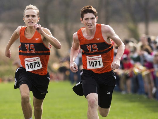 York Suburban teammates Jarrett Raudensky, left, and