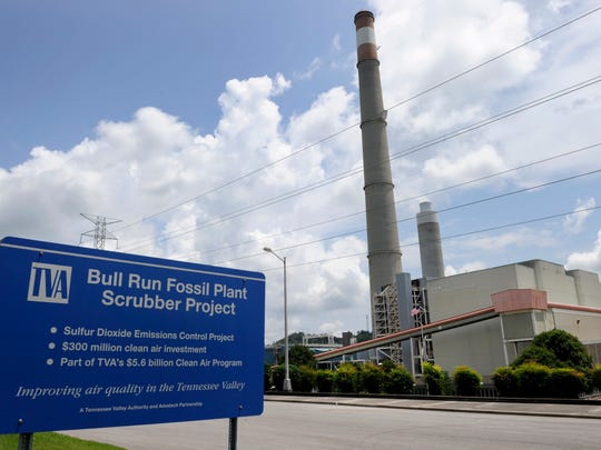 TVA's Bull Run Fossil Plant, on the Clinch River near Oak Ridge, is shown here on July 23, 2014.