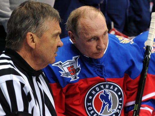 Vladimir Putin, Rene Fasel