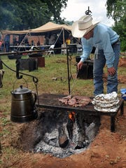 One of the competitions in the Texas Ranch Roundup includes ranch cooking.