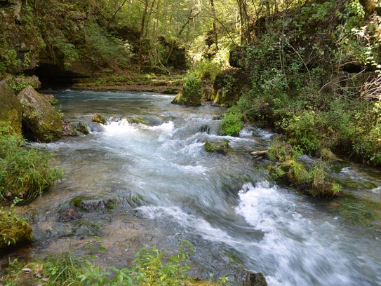 A one-mile hike leads to Greer Spring in a secluded