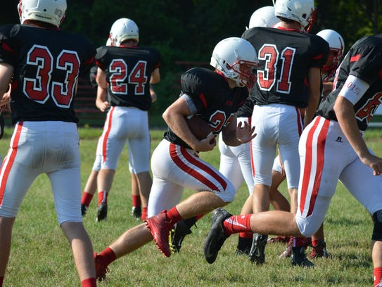The St. Philip football team gets ready for the 2017