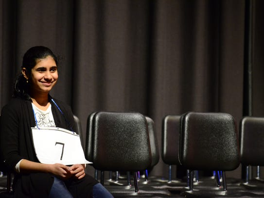 Caravel Academy seventh-grader Maanu Sarwadi won the Delaware State Spelling Bee after competing for over five hours at St. Mark's High School in Pike Creek on Saturday, March 3, 2018.