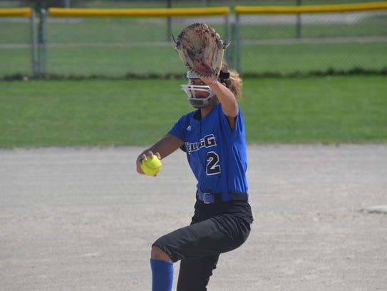 Kellogg Community College pitcher Alexa Stephenson,