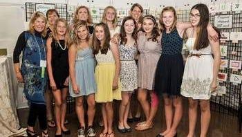 Amanda's Easel Program Coordinator Cindi Westendorf (far left) and volunteers at the 2013 Canterbury Art Show.