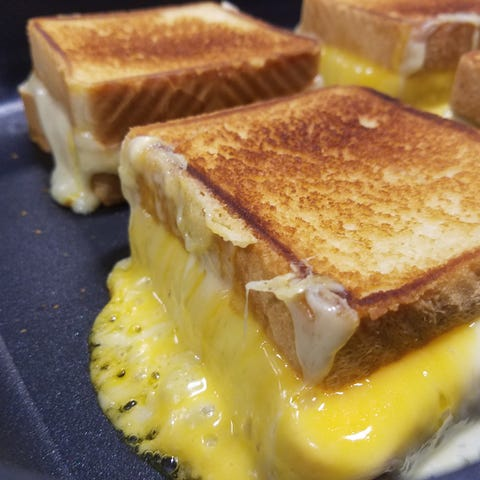 A grilled cheese sandwich is featured each year...