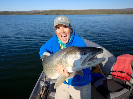 Scott Gardner, with Outdoor Canada magazine, has all the fish he can handle.