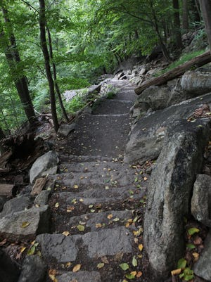 A portion of the Appalachian Trail near the Bear Mountain Inn.