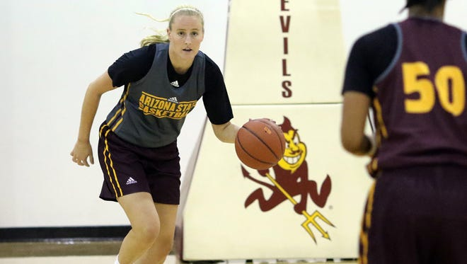 Courtney Ekmark is sitting out this season after transferring to ASU women's basketball from Connecticut.