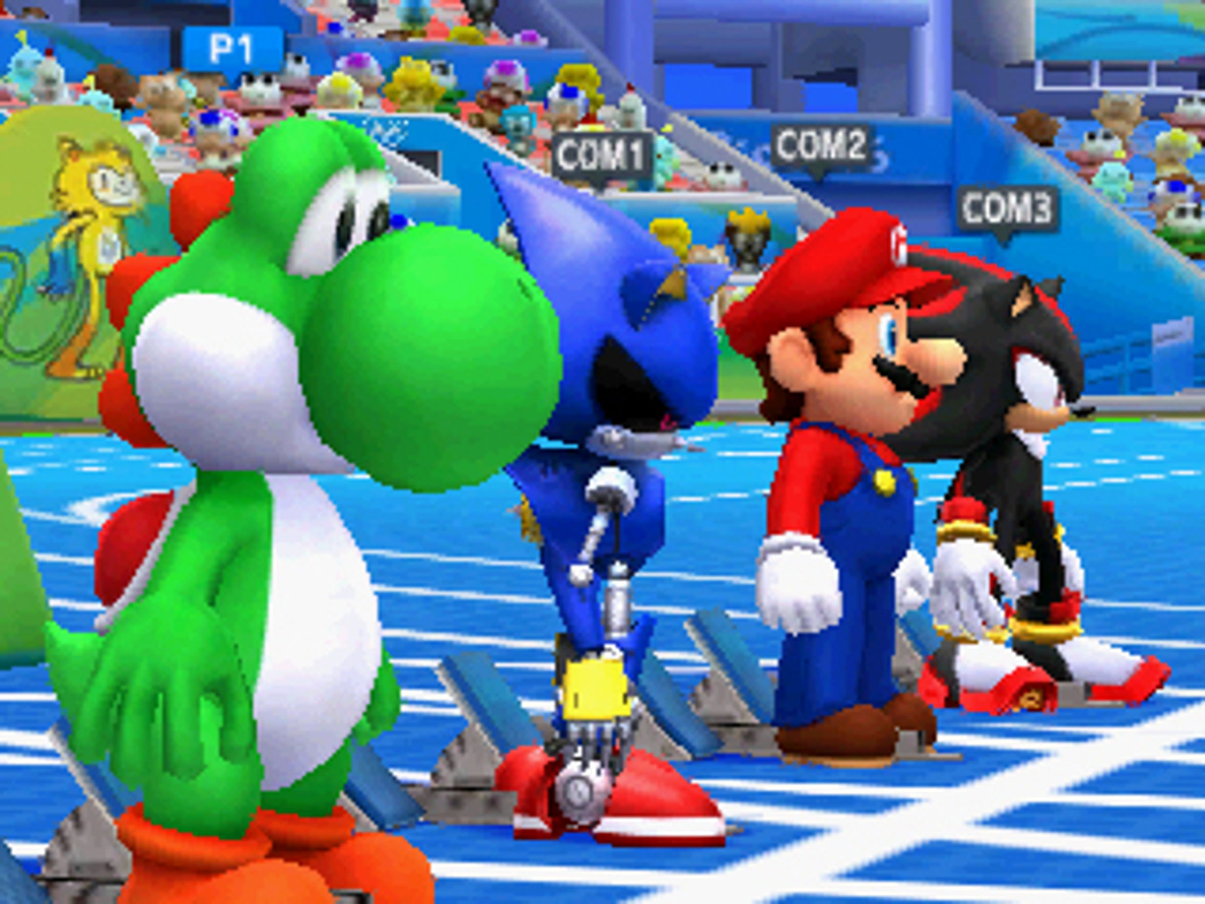 The 100-meter event at Mario & Sonic at the Rio 2016
