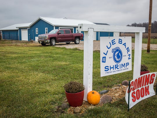 Blue Barn Shrimp south of Muncie will open for business