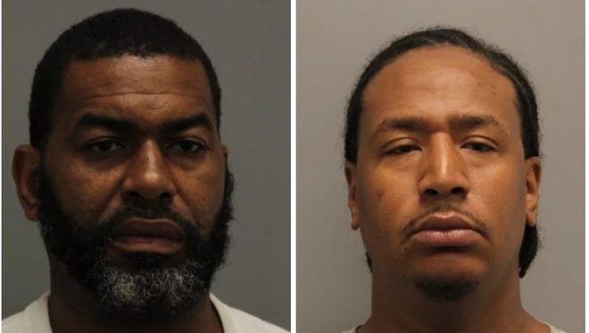 Carl W. Watson, 46 of Milford (left) and Dion Russ, 26 of Milford face charges related to possession of drugs and endangering Watson's three juvenile children.