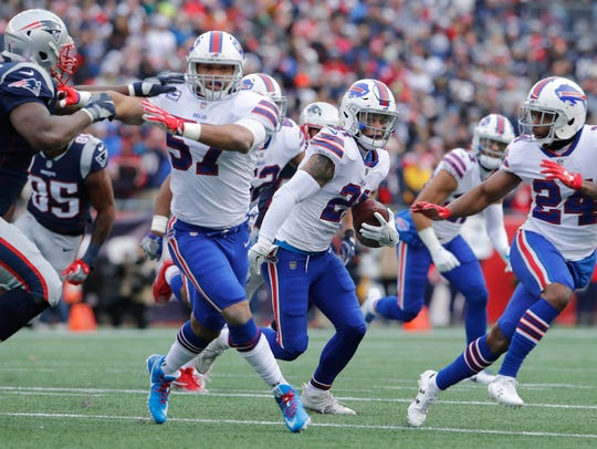 Dec 24, 2017; Foxborough, MA, USA; Buffalo Bills free