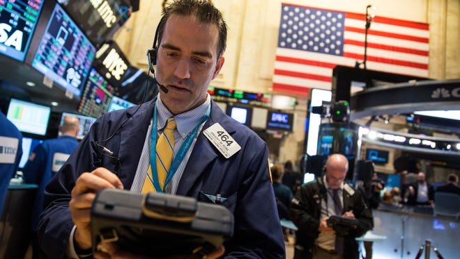 On the floor of the New York Stock Exchange.