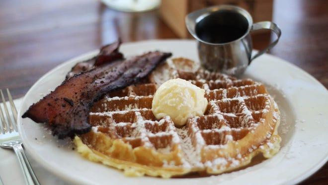 The waffle at Matt's Big Breakfast in Phoenix.