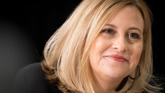 Mayor Megan Barry in this file photo from Friday, March 25, 2016, in Nashville, Tenn.