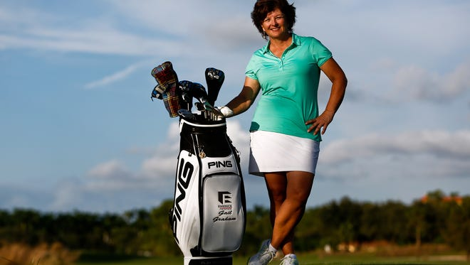 Former LPGA Tour player Gail Graham stands for a portrait at Tiburon Golf Club in Naples on Tuesday, November 10, 2015. (Scott McIntyre/Staff)