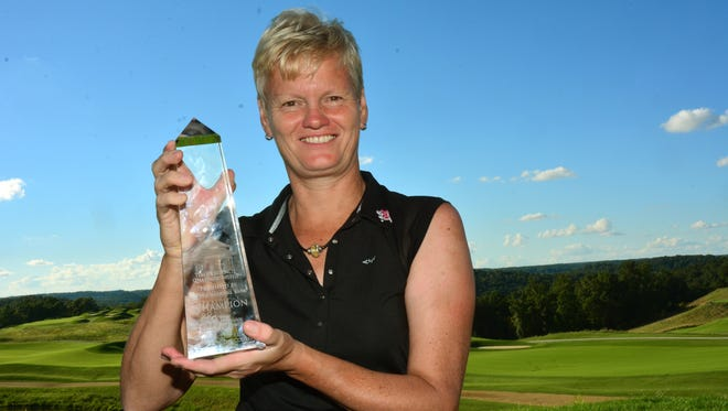Trish Johnson won the longest playoff in the 16-year history of the Legends Tour in the Legends Championship in French Lick.
