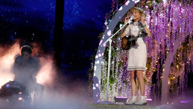 """Grace VanderWaal performs on """"America's Got Talent"""" on Tuesday, Sept. 13, 2016."""