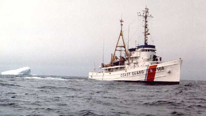 Coast Guard Cutter Tamaroa is shown in 1987 during an iceberg research cruise.