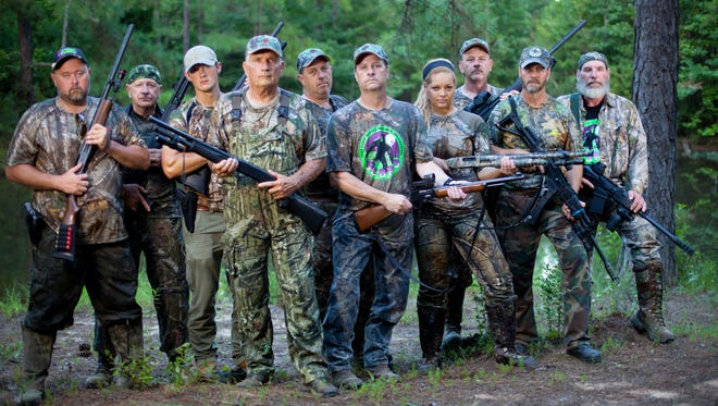 """The cast of the Destination America show """"Killing Bigfoot,"""" which premieres Saturday with an episode located outside Pascagoula."""