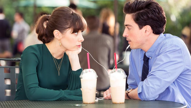 """Cristin Milioti as Zelda and Ben Feldman as Andrew in a scene from NBC's """"A-to-Z."""""""