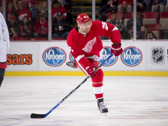 Red Wings defenseman Mike Green has six assists in 13 games but is yet to find the back of the net after scoring 10 goals last season.