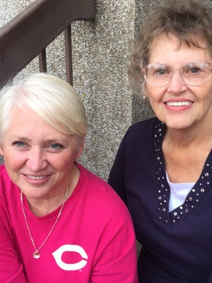 Jill King, left, and Wanda Willis, right, are breast cancer survivors.