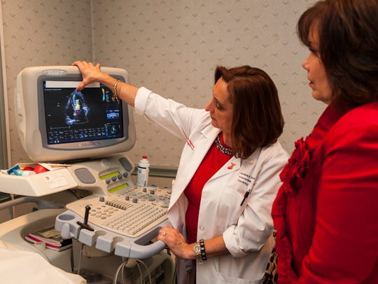 Andrea Passero of Yonkers visits with Dr. Matilda Taddeo,