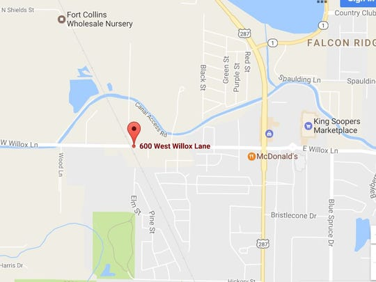 The fire broke out on W. Willox Lane in Fort Collins on Tuesday morning.