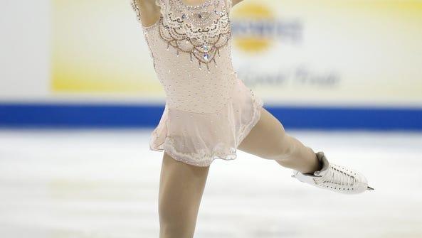 Hannah Miller performs in the women's free skate program