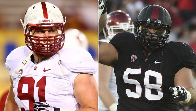 Henry Anderson and David Parry played on the same defensive line at Stanford, and will continue to play alongside each other with the Colts.